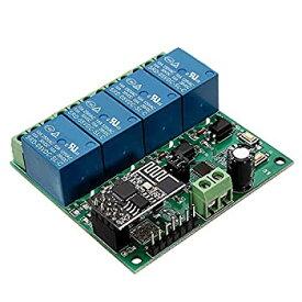 【中古】Tamkyo 5V ESP8266 4チャンネル、WiFiリレーモジュール、IOTスマートホーム、携帯電話アプリリモコン