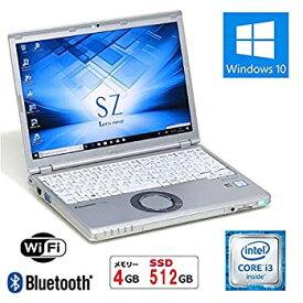 【中古】【新品SSD搭載】【Win10搭載】PanasonicレッツノートCF-SZ5 ★高性能第6世代Core i3(2.3GHz)/4GBメモリ/SSD 512GB(新品)/12インチFHD/WiFi/