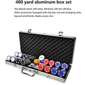 【中古】ABSポーカーチップセットゲームポーカーカジノポーカーセット、カード、サイコロ、ディーラー、スモールブラインド、ビッグブラインドボタン、ス