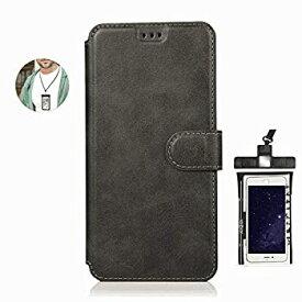 【中古】耐摩擦 手帳型 ケース iPhone 7 PLUS プラス ケース アイフォン レザー 本革 アイフォン 財布型 カード収納 軽量 保護ケース 無料付防水ポーチ水