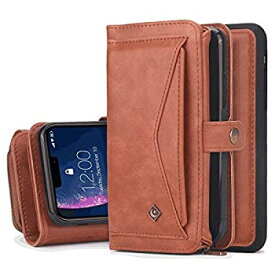 【中古】iPhone 7 Plus プラス レザー ケース 手帳型 アイフォン 7 Plus プラス 本革 財布 カバー収納 スマートフォンカバー 全面保護 ビジネス 無料付ス