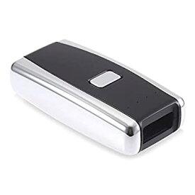 【中古】バーコードスキャナ USB充電式でポータブル2DレッドライトバーコードスキャナリーダーミニワイヤレスBluetooth (色 : ブラック サイズ : 8x4x2cm