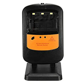 【中古】バーコードスキャナ USBケーブルUPC EANと回転可能なハンズフリーハンドヘルド1D、2Dバーコードスキャナ (色 : ブラック サイズ : 78x75x141mm)