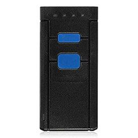 【中古】バーコードスキャナー IOSのAndroid UPCのための正確なミニポータブルワイヤレスBluetoothバーコードスキャナ 仕事効率アップ (Color : Black Si