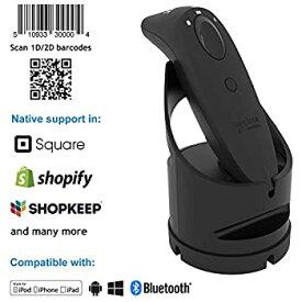 【中古】Bluetooth 1D/2Dバーコードスキャナー(S740 黒色) +充電ドック(黒色)