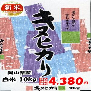 ★送料無料★新米 令和2年産 岡山県産 キヌヒカリ 白米 10kg