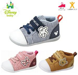 ムーンスター DN B1257 ベビーシューズ 子供靴 ベビー靴 ディズニーベビー プレゼント ミッキー ミニー プーさん