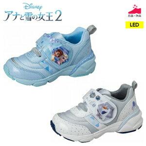 ムーンスター ディズニー キャラクターシューズ DN C1271 LED搭載光る靴 アナと雪の女王 アナ エルサ オラフ 子供靴 女児