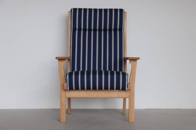 【北欧家具】Hans J. Wegnerデザイン GE181 張替済み(Danish Art Weaving生地)【中古】
