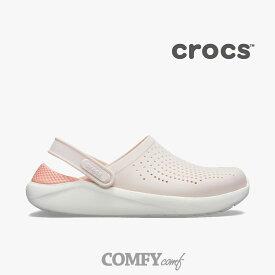 ..【50%OFF】クロックス《ユニセックス》 ライトライド クロッグ/ バレリーピンク ホワイト/ Crocs/ Literide Clog/ Barely Pink White◇クロックス正規取扱店◇