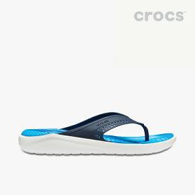 ・クロックス《ユニセックス》ライトライド フリップ/ネイビー ホワイト/ CROCS/LiteRide Flip - Sandal/Navy White #
