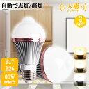 高評価4.89 led センサー 電球 E17 人感センサー 電球 人感 電球 LED センサー ライト 2個セット 人感センサー付きLED…