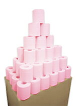 業務用カラートイレットペーパー 2級品 100R(1箱:バラ100ロール)[ トイレットペーパー 100ロール ][ トイレットペーパー 業務用 ]まとめ買い 訳あり アウトレット 激安 再生紙 カラー 業務用☆2級品カラートイレット100R☆