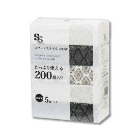 ☆スマートスタイル200W☆準一級品ピローティッシュ 5個組×16P(80個入)パルプ100% 日本製