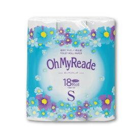 ☆オーマイリーデ18RS☆無香料再生紙トイレットペーパー シングル 18R×6P