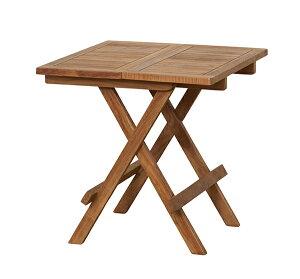 送料無料 テーブル 折りたたみ式 チーク 折り畳み ガーデンテーブル ガーデンファニチャー 木製 カフェ風 テラス バルコニー