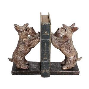テリア犬のブックエンド 本立て オブジェ 置物 ミニチュア ドッグ アンティーク モダン レトロ 北欧 ヴィンテージ ヨーロピアン 飾り物 卓上 かわいい ブックスタンド