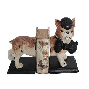 犬のブックエンド 本立て オブジェ 置物 ミニチュア ドッグ アンティーク モダン レトロ 北欧 ヴィンテージ ヨーロピアン 飾り物 卓上 かわいい ブックスタンド