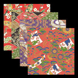 友禅千代紙 5寸 100枚入 各25枚x4柄 キッチン 和柄 日本製 かわいい おしゃれ