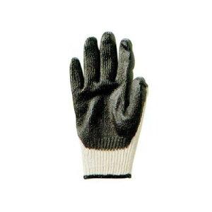 勝星産業 ゴム引きブラック(背ヌキ加工) 薄手タイプ 5双組 サイズ:フリー W585F 作業用手袋 すべり止め 滑りにくい ゴム手袋 通気性 蒸れにくい 背抜き