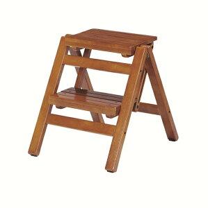 送料無料 折り畳みステップチェア 2段 踏み台 折りたたみチェア 椅子 イス いす 脚立 木製 ステップ 階段 玄関 キッチン コンパクト おしゃれ モダン シンプル