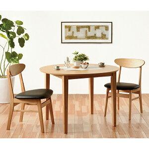 送料無料 ダイニング3点セット ダイニングテーブル 100幅 3人掛け 2人 2人掛け 円卓 丸テーブル ブルック 木目 木製 テーブル チェアー 2脚セット 机 作業台 椅子 食卓テーブル コンパクト 北欧