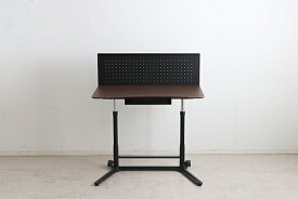 スタンディングデスク 昇降 高さ調節 ブラウン パソコンデスク 幅95cm オフィスデスク 事務机 PCデスク 学習机 学習デスク ワークデスク 学習机 勉強机 木製 つくえ 収納 北欧 モダン おしゃれ