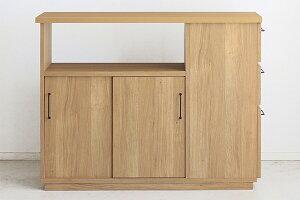 日本製 幅120cm 間仕切りカウンターテーブル キッチンカウンター 収納 間仕切り 木製 テーブル キッチンボード レンジ台 収納棚 ナチュラル 北欧 モダン ミッドセンチュリー おしゃれ 高級感