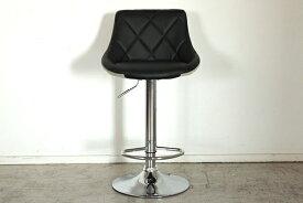 バーチェアー ブラック 合成皮革 カウンターチェアー ハイチェアー 疲れにくい 椅子 イス いす 食卓チェアー 背もたれ付き カフェ バー 北欧 西海岸 ミッドセンチュリー レトロ モダン おしゃれ