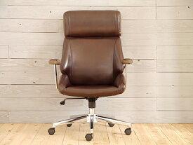 オフィスチェア パソコンチェアー おしゃれ ガス圧昇降 ロッキング機能 ウィップチェア ブラウン デスクチェア ワークチェア 椅子 イス いす ミッドセンチュリー スタイリッシュ 高級感