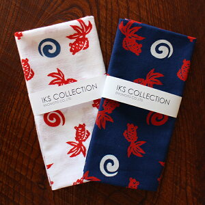 日本製 注染手ぬぐい 金魚 手拭い タオル 夏 総理生地 綿100% 和雑貨 和柄 コットン プレゼント おしゃれ 引っ越し 挨拶 内祝い かわいい
