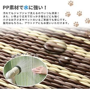 【日本アトピー協会推薦品】PP柄上敷き日本製「ガナッシュ」ブラウン