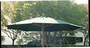 4.0mφ パラソル アンブレラ グリーン ベース別売り 日よけ 日除け ガーデンパラソル 屋外 庭 アウトドア カフェ おしゃれ