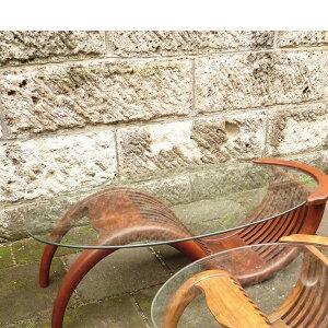 チークガラステーブル(塗装品) 単品 ガーデンテーブル 机 テラス カフェ アウトドア おしゃれ モダン