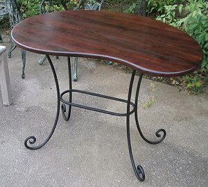 マンゴーテーブル 単品 ロートアイアン コーヒーテーブル カフェテーブル 机 おしゃれ モダン アンティーク