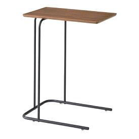 サイドテーブル 幅35cm 木製 スチール アイアン スリム コンパクト ナイトテーブル ベッドサイドテーブル ソファーサイドテーブル レトロ モダン 北欧 ブルックリン 西海岸 男前 インテリア おしゃれ アンティーク ブラウン