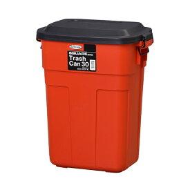 ダストボックス フタ付き ふた付き ごみ箱 ゴミ箱 トラッシュカン トラッシュボックス リビング 台所 キッチン 野外 インテリア アンティーク 北欧 レトロ モダン ブルックリン 西海岸 カントリー おしゃれ レッド