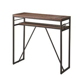 棚付きカウンターテーブル 幅105cm 高さ100cm フック付き スチール ハイテーブル カフェテーブル バーカウンター テーブル 作業台 つくえ 机 レトロ モダン 北欧 ブルックリン 西海岸 男前 インテリア おしゃれ アンティーク