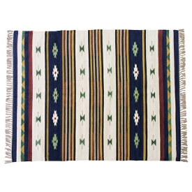 キリムラグ ラグマット 170x230cm コットン 綿 フロアマット 柄 ラグ マット カーペット じゅうたん 絨毯 センターラグ リビングラグ シンプル おしゃれ 北欧 高級感