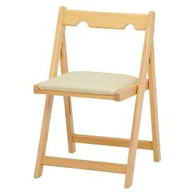 送料無料 折りたたみチェアー 座面高41cm チェア 折り畳み PCチェア 椅子 ダイニングチェアー 食卓椅子 省スペース コンパクト 学習椅子 ホワイトウォッシュ ナチュラル ブラウン VC-7371NA