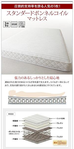 【送料無料】フロアベッドワイドK280連結可省スペースデザインGratiグラティーボンネルコイル:レギュラー付きローベッドウォールナットオークマットレスセットマット付き親子ベッド連結ベッド040111225