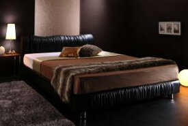 送料無料 レザー ベッド ダブル ベッドフレーム マットレス セット すのこベッド モダンデザイン Wolsey ウォルジー マルチラススーパースプリングマットレス付き ダブルベッド ダブルサイズ スノコベット フロアーベッド ブラック ホワイト おしゃれ 高級感