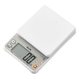送料無料 タニタ クッキングスケール デジタルクッキングスケール 計量 はかり 計り 電子はかり ホワイト キッチンスケール