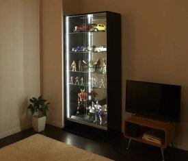 送料無料 LEDコレクションラック ワイド 本体 引き戸タイプ 高さ180 奥行29 コレクションケース ディスプレイラック フィギュアケース コレクションボード 500023834
