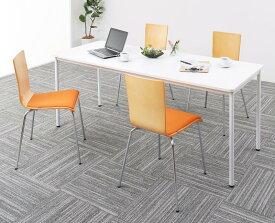 【送料無料】 多目的オフィス家具シリーズ CURAT キュレート 5点セット(ワークテーブル幅180 + チェア4脚) オフィスデスクセット オフィスデスク オフィスチェア オフィステーブル