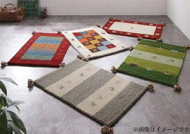 【送料無料】 ウール100%インド製手織りギャッベラグマット GABELIA ギャベリア 70×120cm ラグマット おしゃれ カーペット 角型