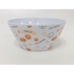 送料無料 6個セット メラミンボウル スマイリー(総柄) 皿 お皿 食器 うつわ さら サラ 器 お茶碗 お椀 カフェ ギフト 贈り物 プレゼント おしゃれ かわいい