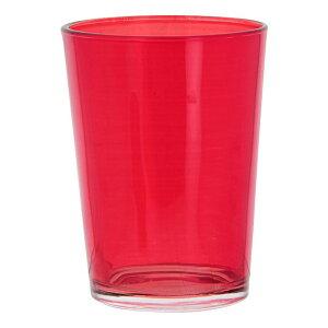 送料無料 6個入り コップ ガラス カラフルグラス M レッド ガラスコップ おしゃれ ギフト 結婚祝い 内祝い お祝い 贈り物 プレゼント 誕生日