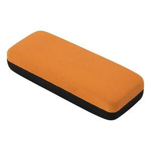 送料無料 4個入り メガネケース PVC オレンジ 眼鏡入れ 眼鏡ケース めがねケース スリム ハードケース おしゃれ かわいい ギフト プレゼント