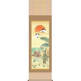 掛軸 鶴亀高砂吉兆図(K5D5-053)